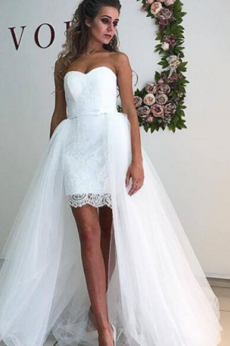 WedCharming Wedding Dress,Lace Wedding Dresses,Tulle Wedding Dressding Dress , Bridal Gown